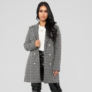Tweed Fall Jacket With Pearl Buttons